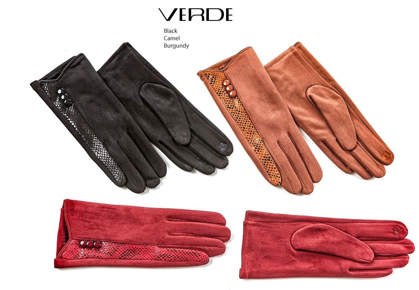 Guanti pitonati touch screen | Vendita guanti da donna on line