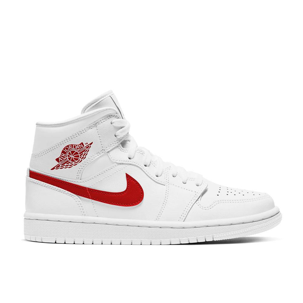 Nike Air Jordan 1 Mid Red White Limited Edition da Uomo