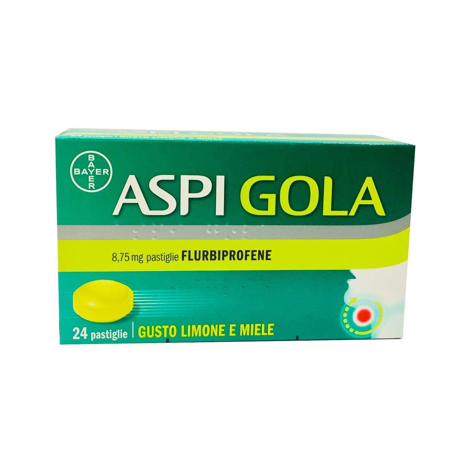 Aspi Gola 24 Pastiglie Mal di Gola-Limone Miele
