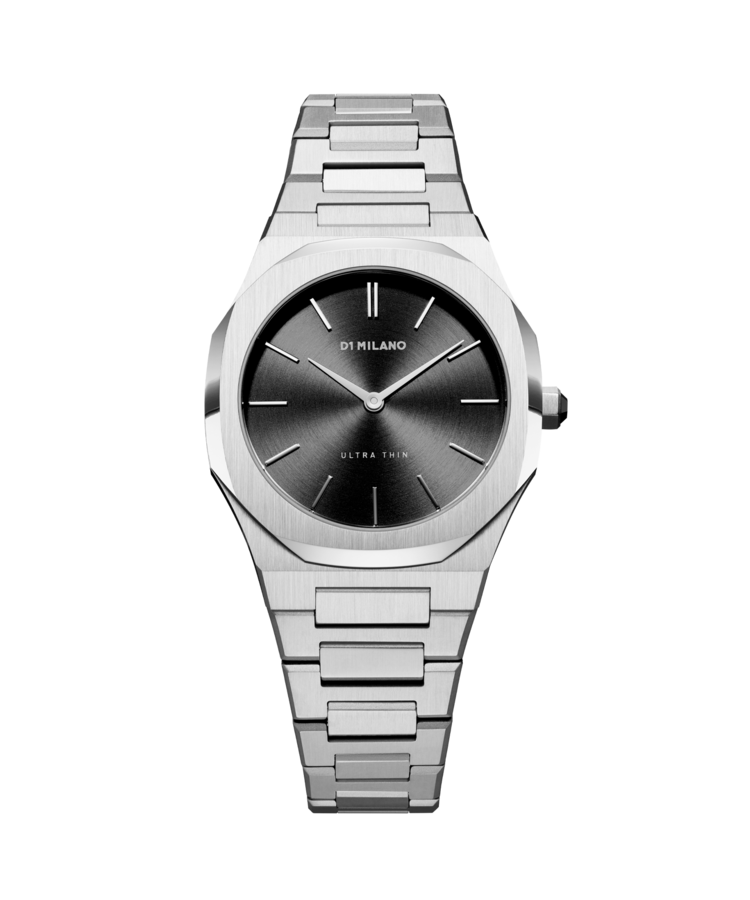 Orologio D1 Milano,SILVER NIGHT ULTRA THIN BRACELET 34 MM