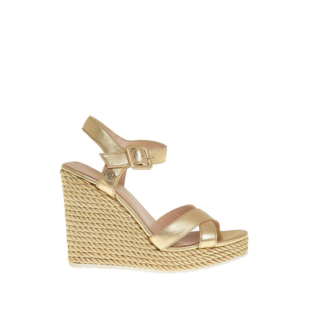 Lucy sandals metallic gold - LIU JO