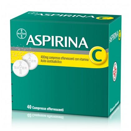 Aspirina C 400 mg + 240 mg - 40 compresse effervescenti