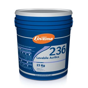 Covema 236 pittura lavabile acrilica per interni bianca kg4