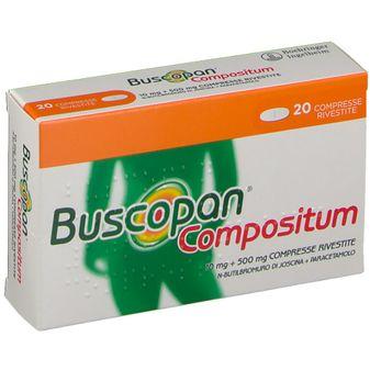 Buscopan Compositum Cm 10 mg + 500 mg - 20 compresse