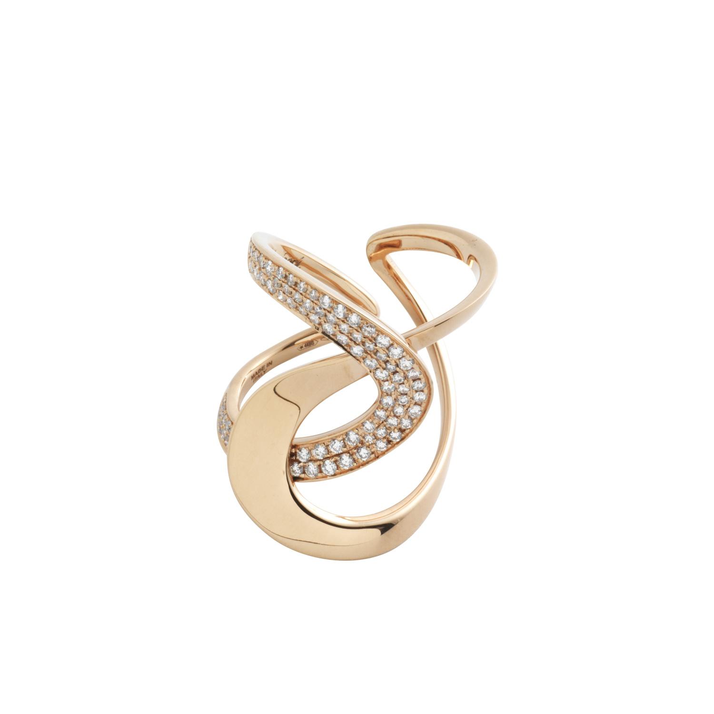 Anello h.24 in oro rosa e diamanti