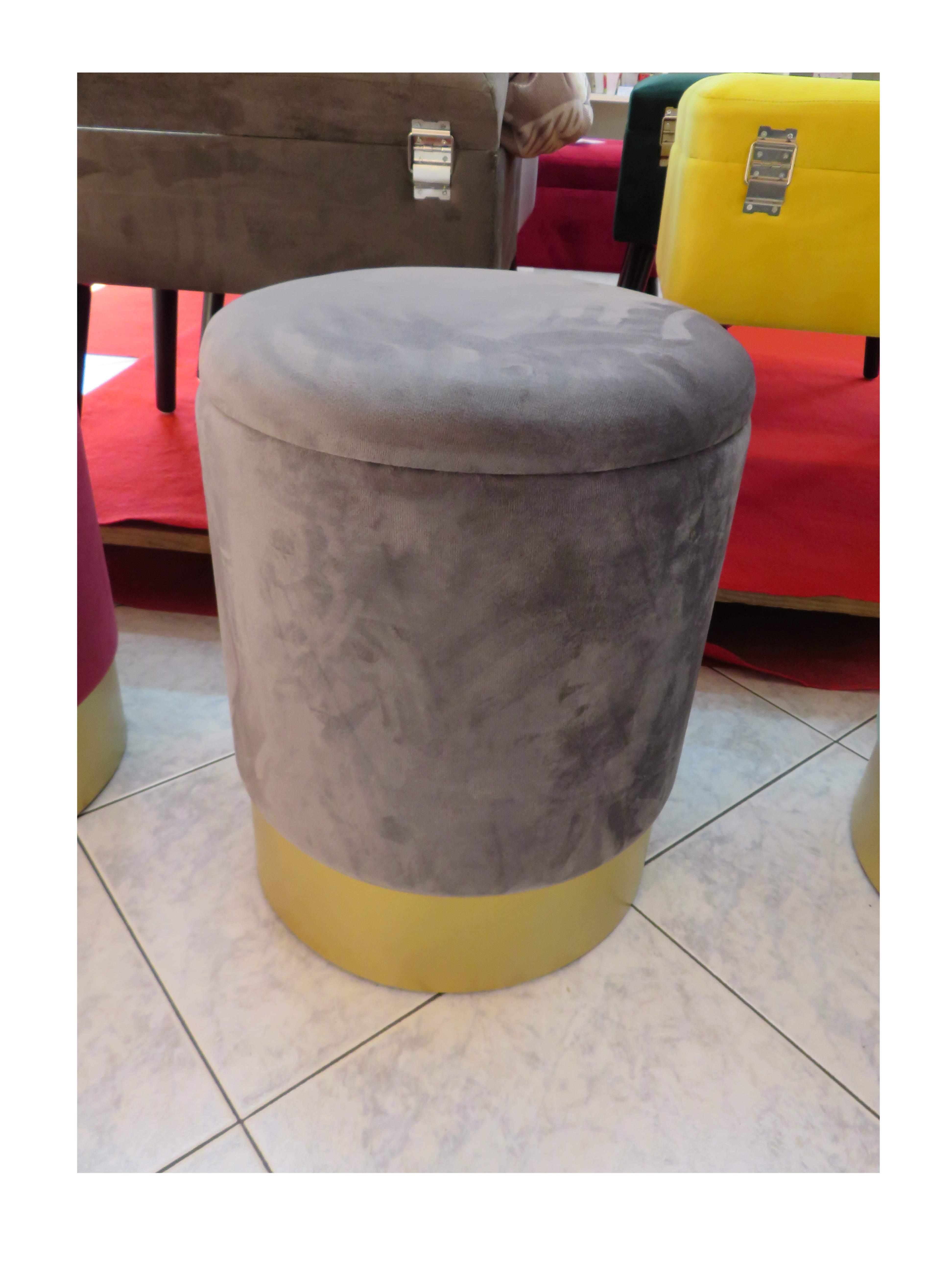 Pouf contenitore grigio