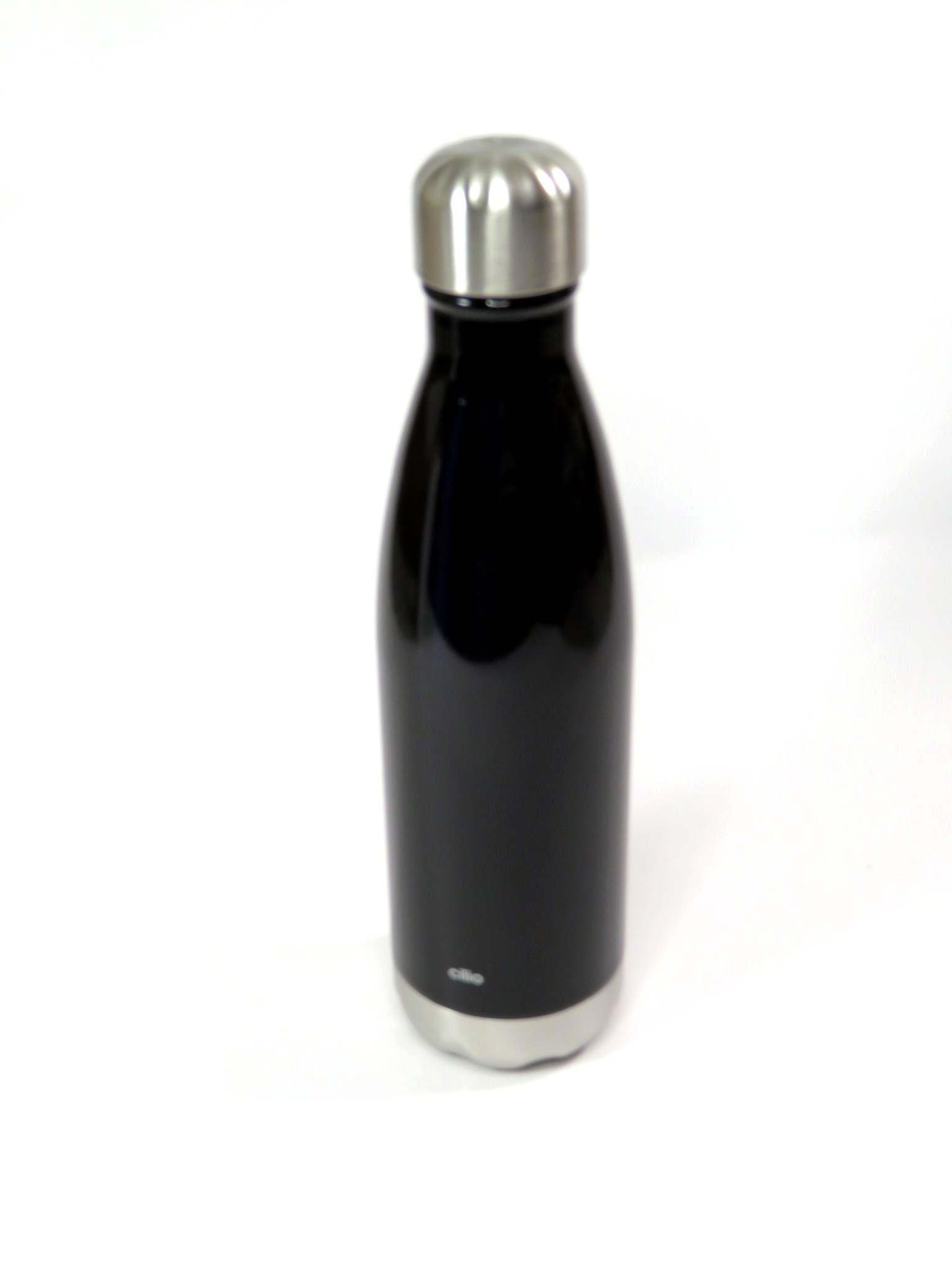 Bottiglia termica 500ml in acciaio nero