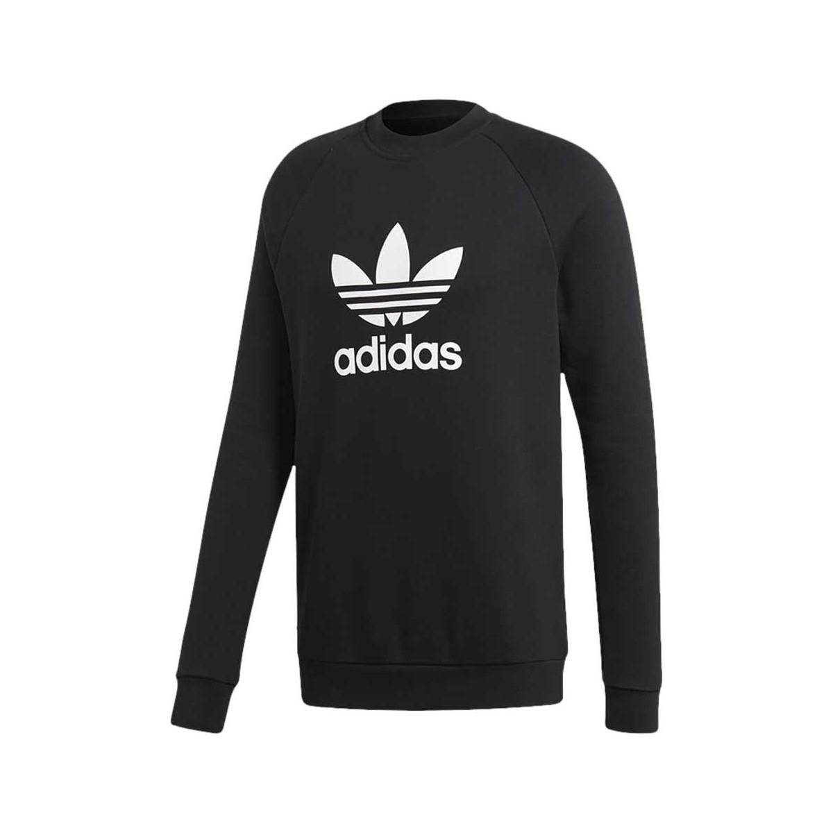 Adidas Felpa Trefoil Crew Black