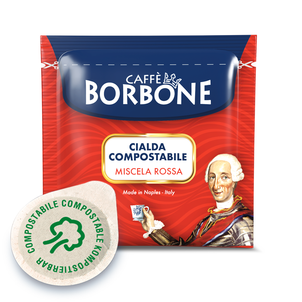 100 Cialde Rosse Borbone 44 mm