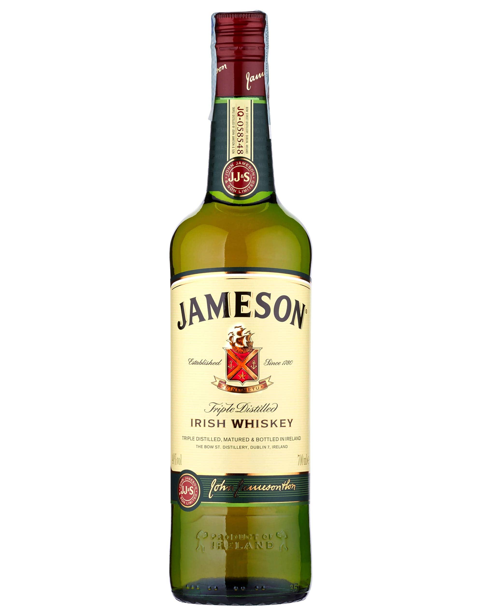 Whiskey Jameson Irish Triple Distelled CL.70