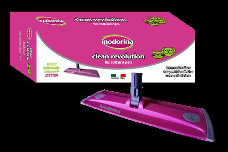 Clean Revolution Kit Scopa + 8 panni adesivi PANNO CATTURA PELI  INODORINA