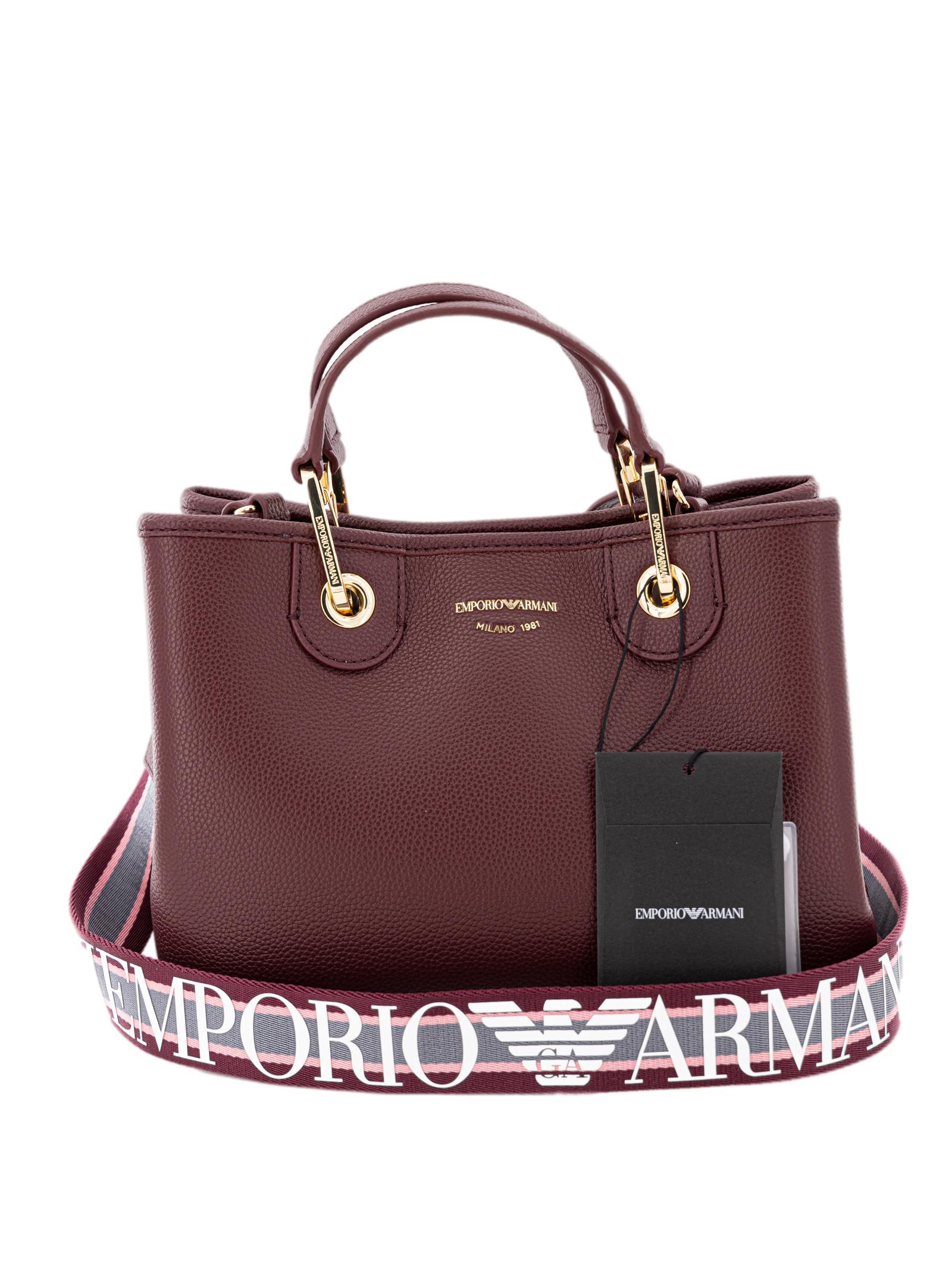 Borsa a mano Emporio Armani Y3D166 YFO5B 84784 Bordeaux