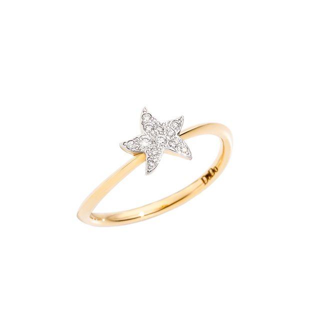 ANELLO STELLA Oro giallo 18kt, Diamanti