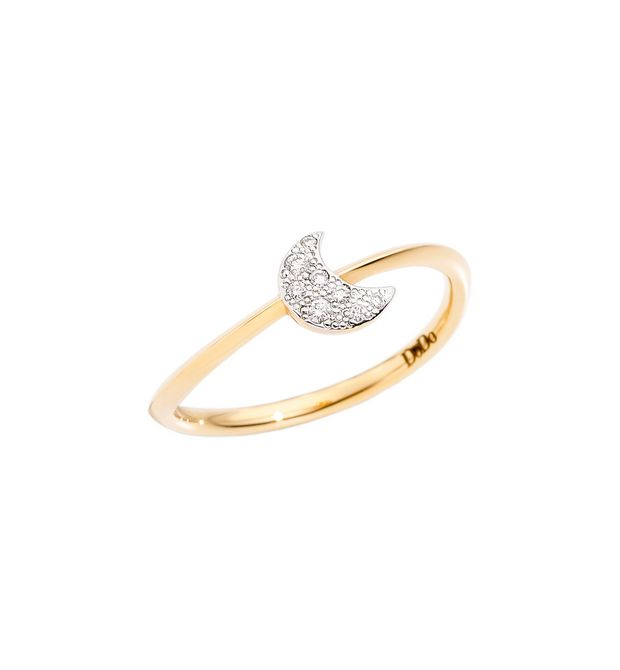 ANELLO LUNA Oro giallo 18kt, Diamanti