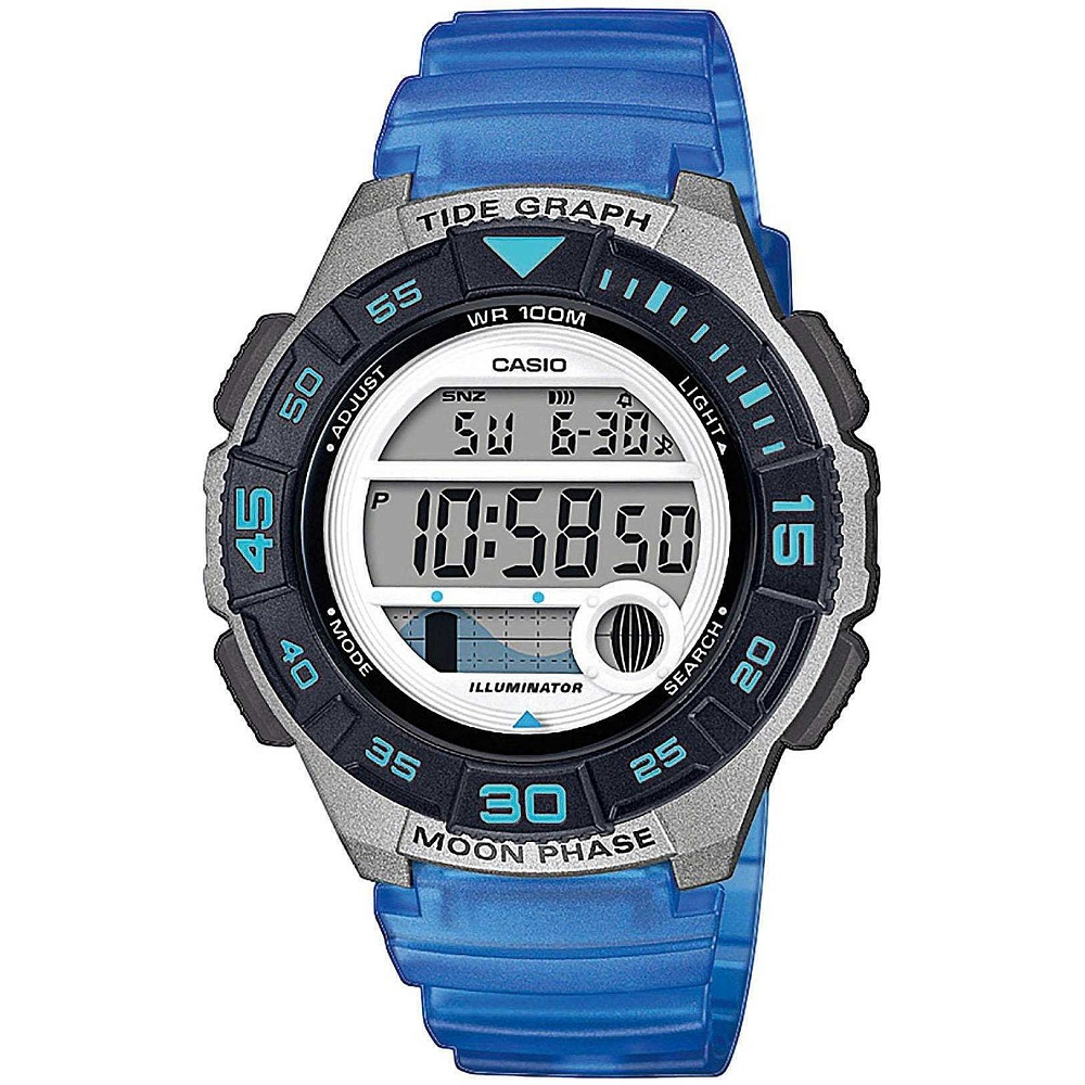 Casio Collection orologio digitale donna, blu e grigio
