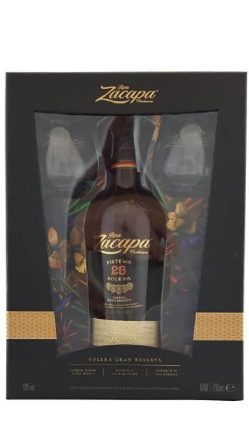 Rum Zacapa Sistema Solera 23 anni 1 Bottiglia + 2 Bicchieri