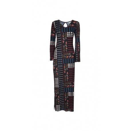 Vestito donna aderente in maglina | abbigliamento etnico chic online