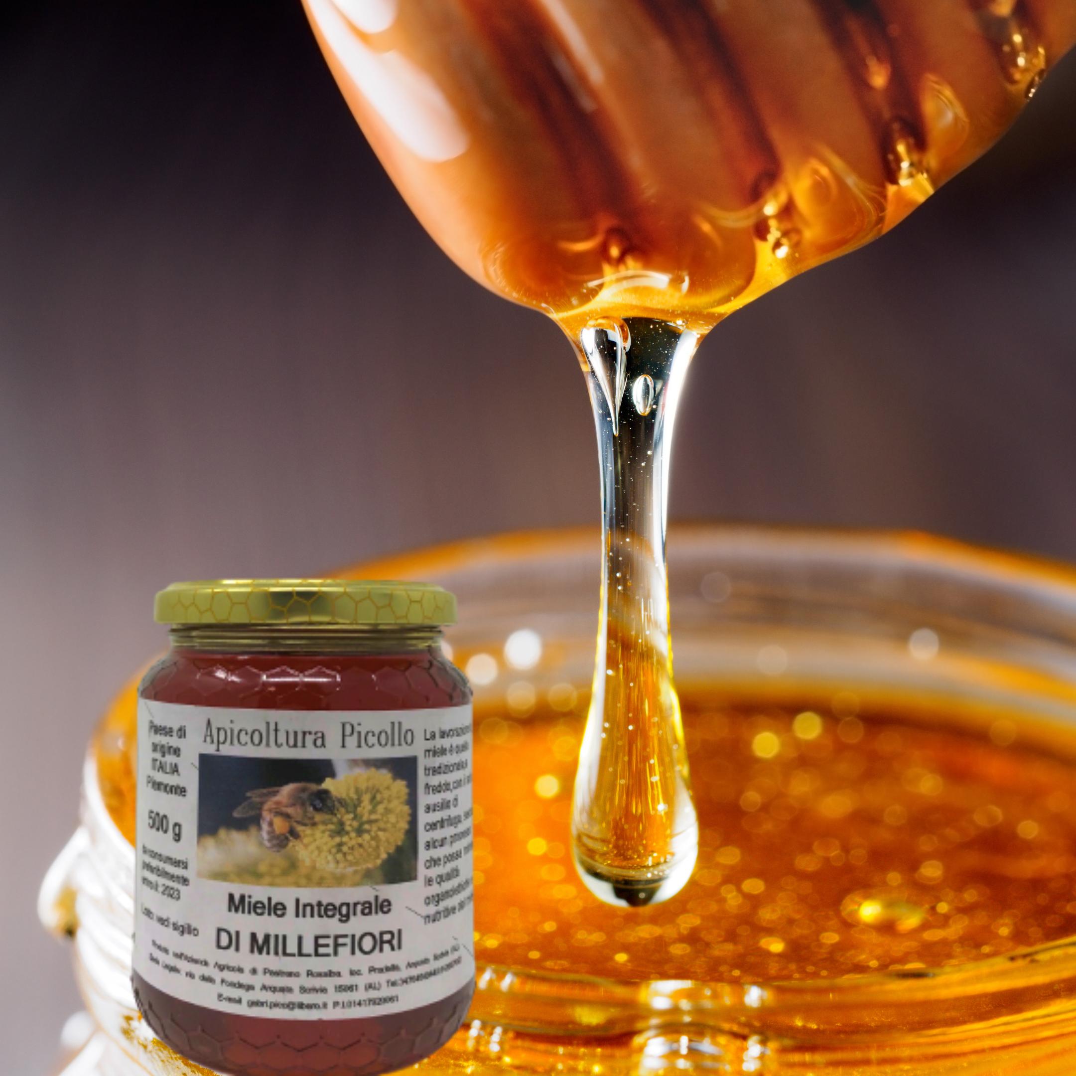 Miele integrale di millefiori 500 g