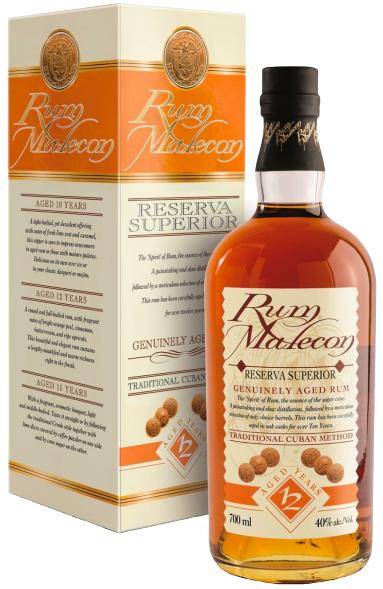 Rum Malecon Cuba 12 anni Confezione CL.70