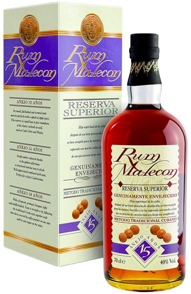 Rum Malecon Cuba 15 Anni Confezione CL.70
