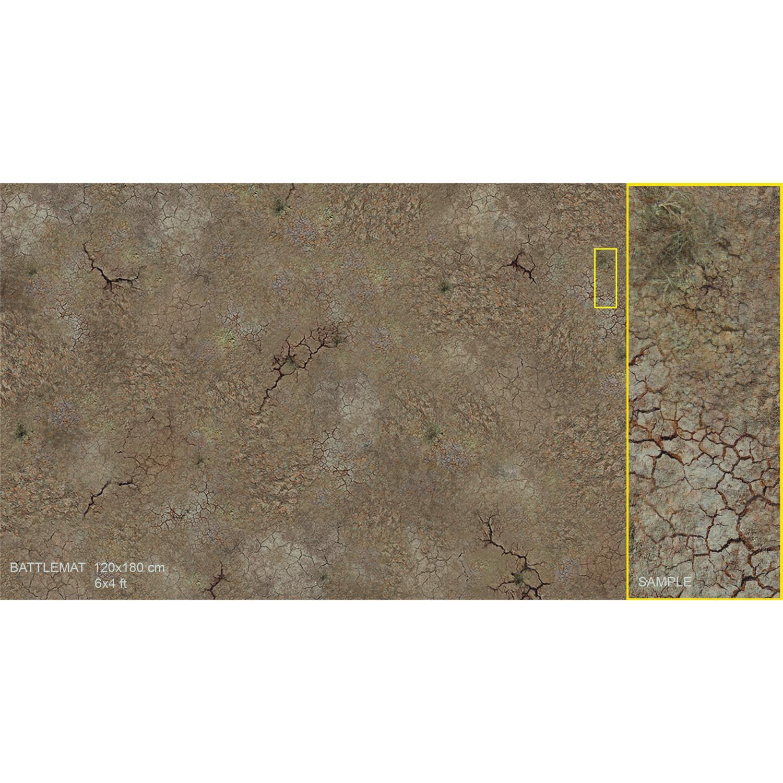 Wargaming MAT - Cracked Soil 6' x 4'