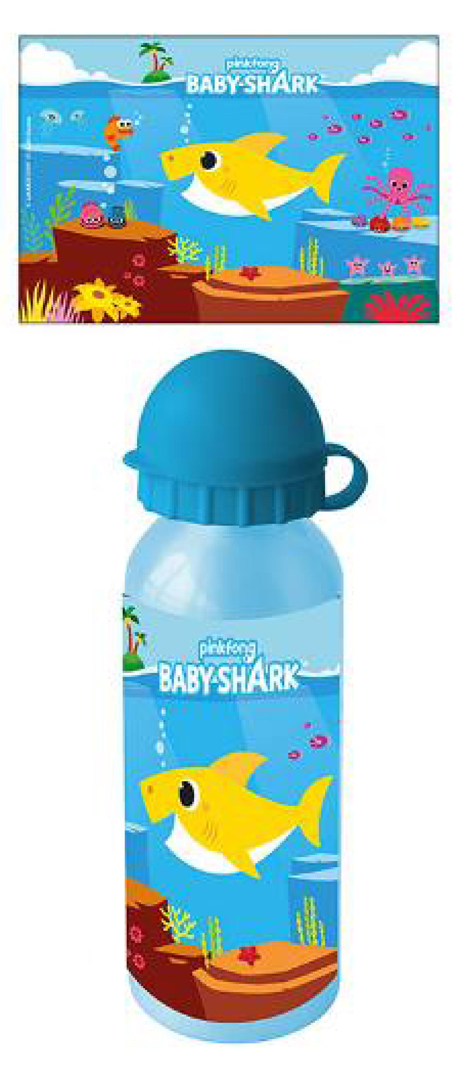 Borraccia in Alluminio 500ml Bing 44 Gatti Gormiti Baby Shark Lol Surprise (Baby Shark1)