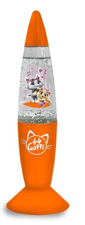 44 gatti Lampada Luminosa con Glitter Milady Pilou Lampo Poplpetta (Milady e pilou)