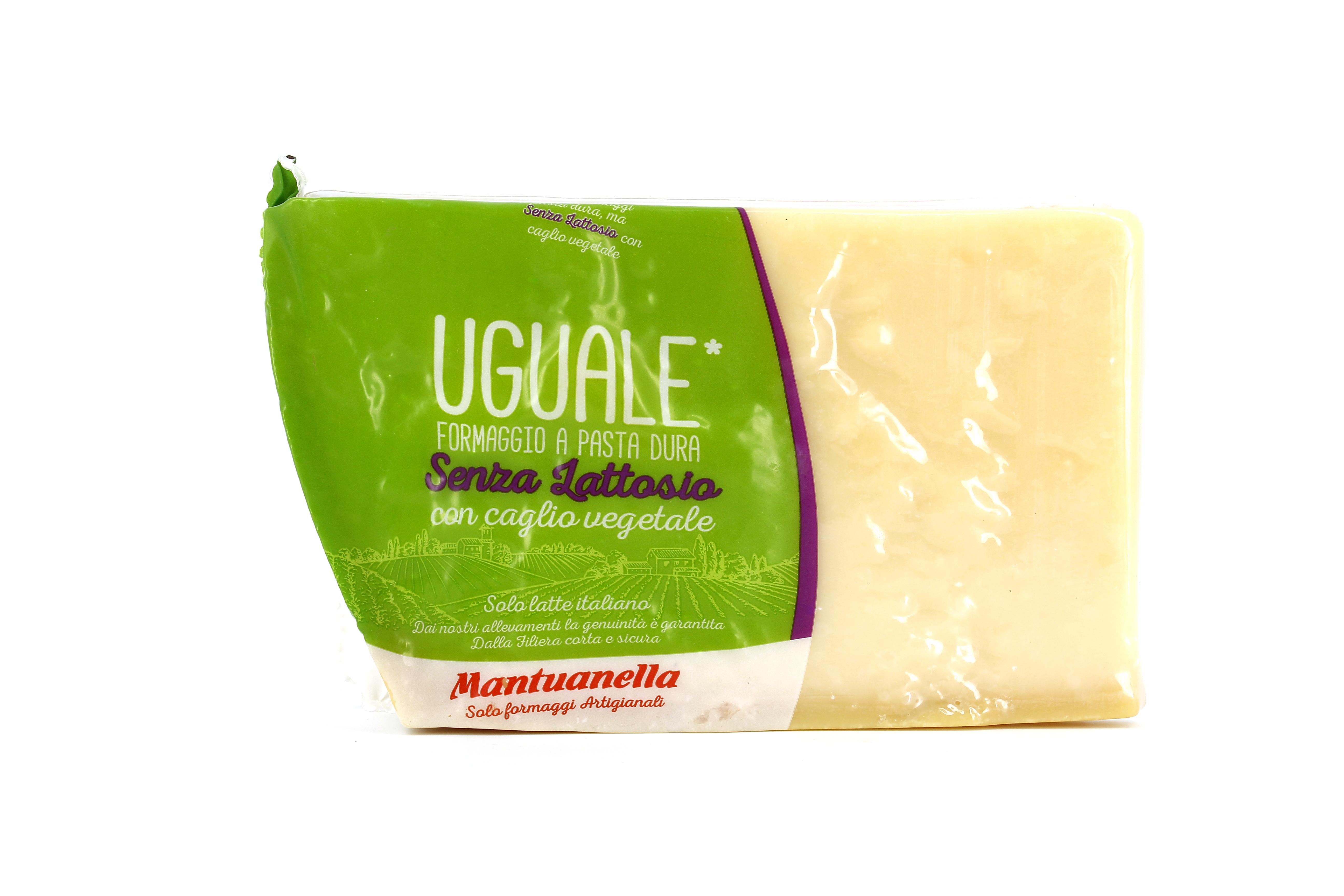 MANTUANELLA UGUALE VERDE SENZA LATTOSIO CON CAGLIO VEGETALE 1 Kg sottovuoto (peso variabile)