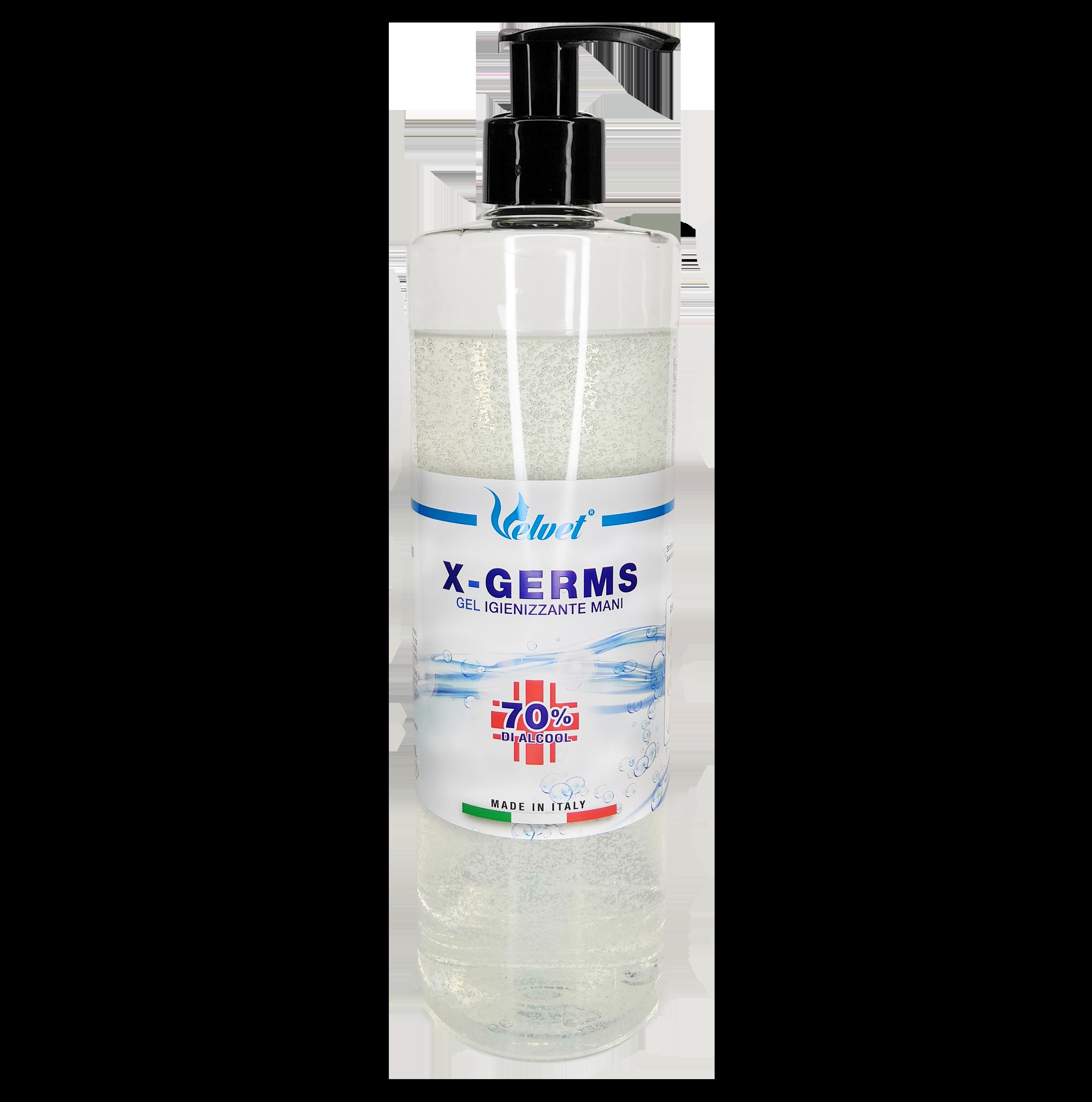 1 LITRO | Gel Igienizzante Mani 70% Alcool Alcol | X-GERM