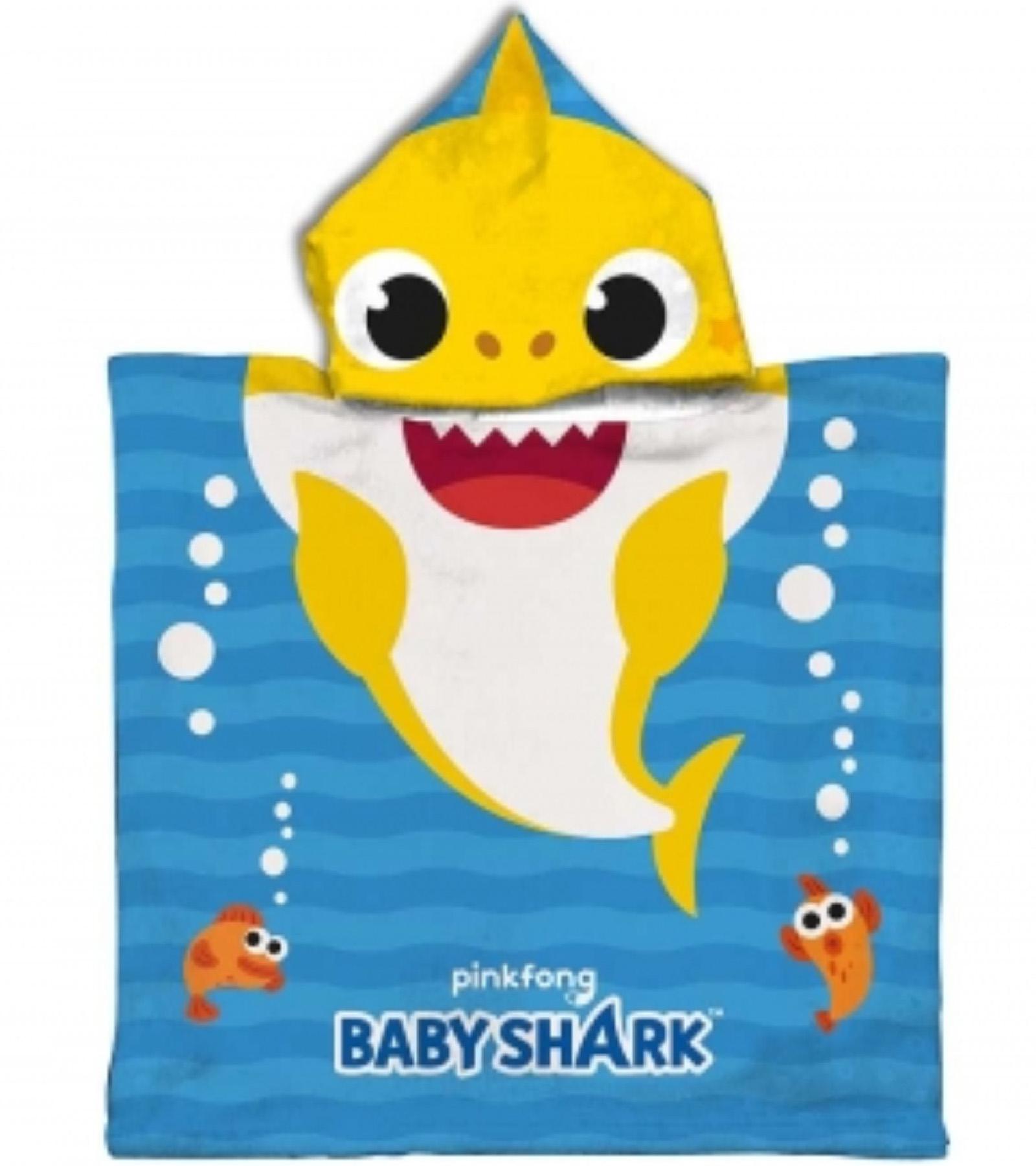 Poncho Baby Shark Dim 50x100 cm