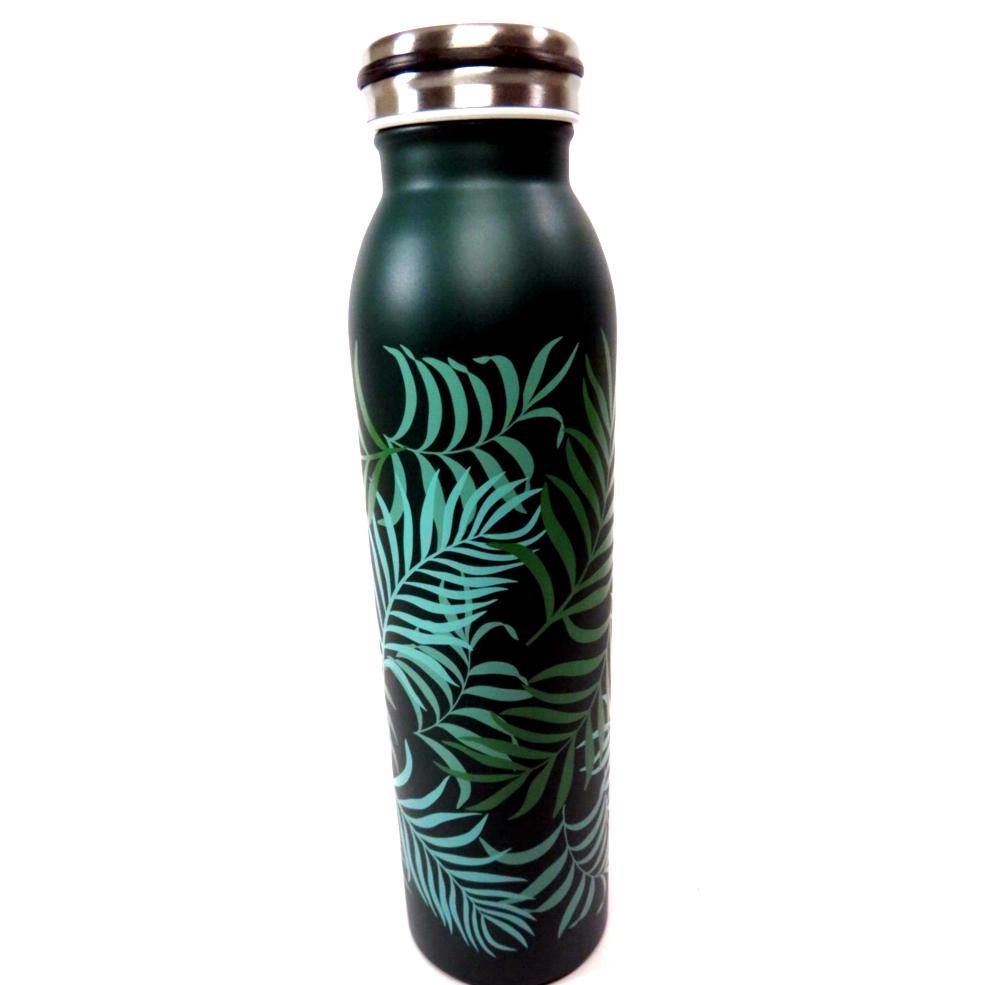 Bottiglia termica decoro foglie 600ml