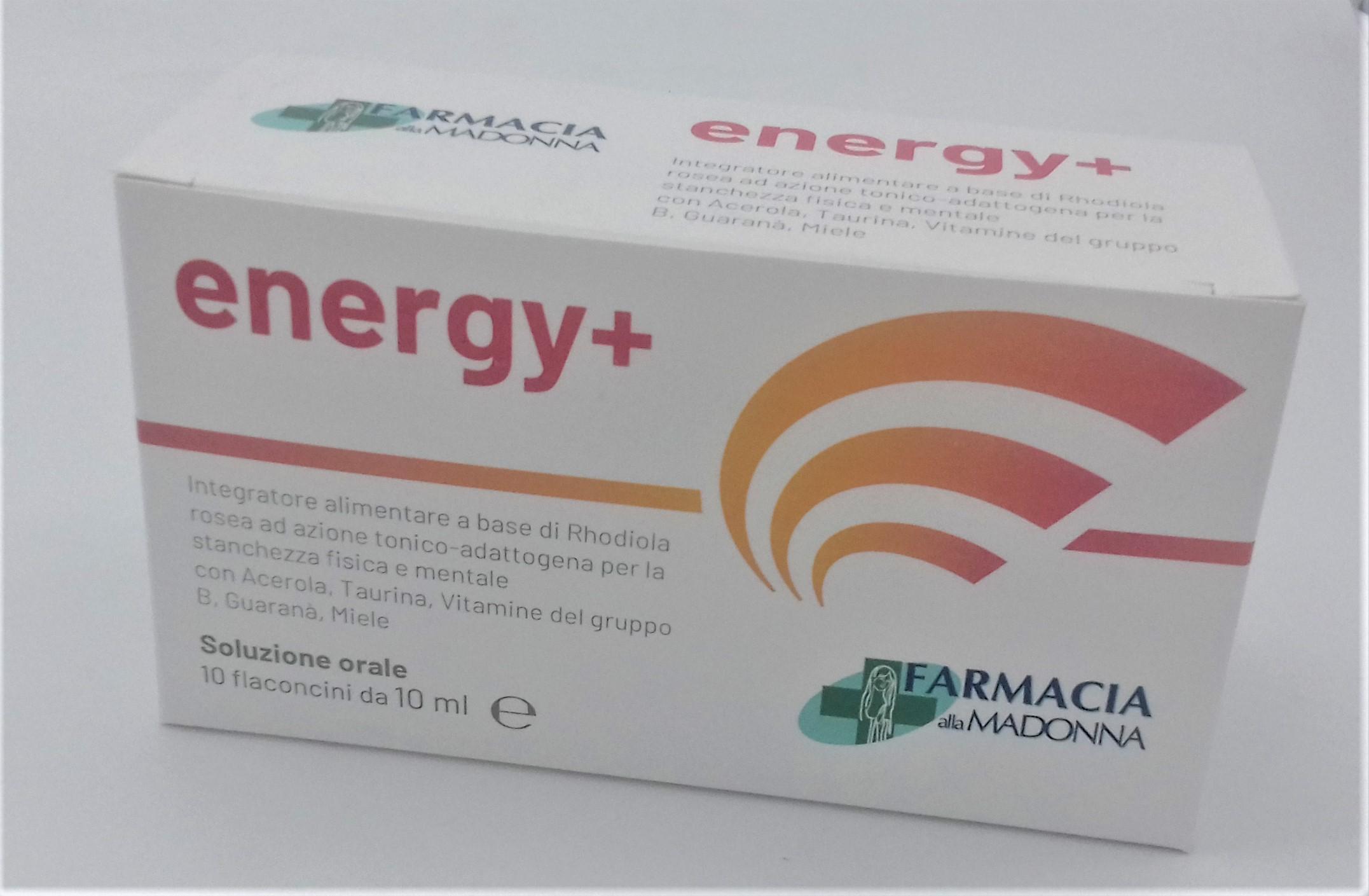 ENERGY+  10 FLACONCINI  Farmacia alla Madonna