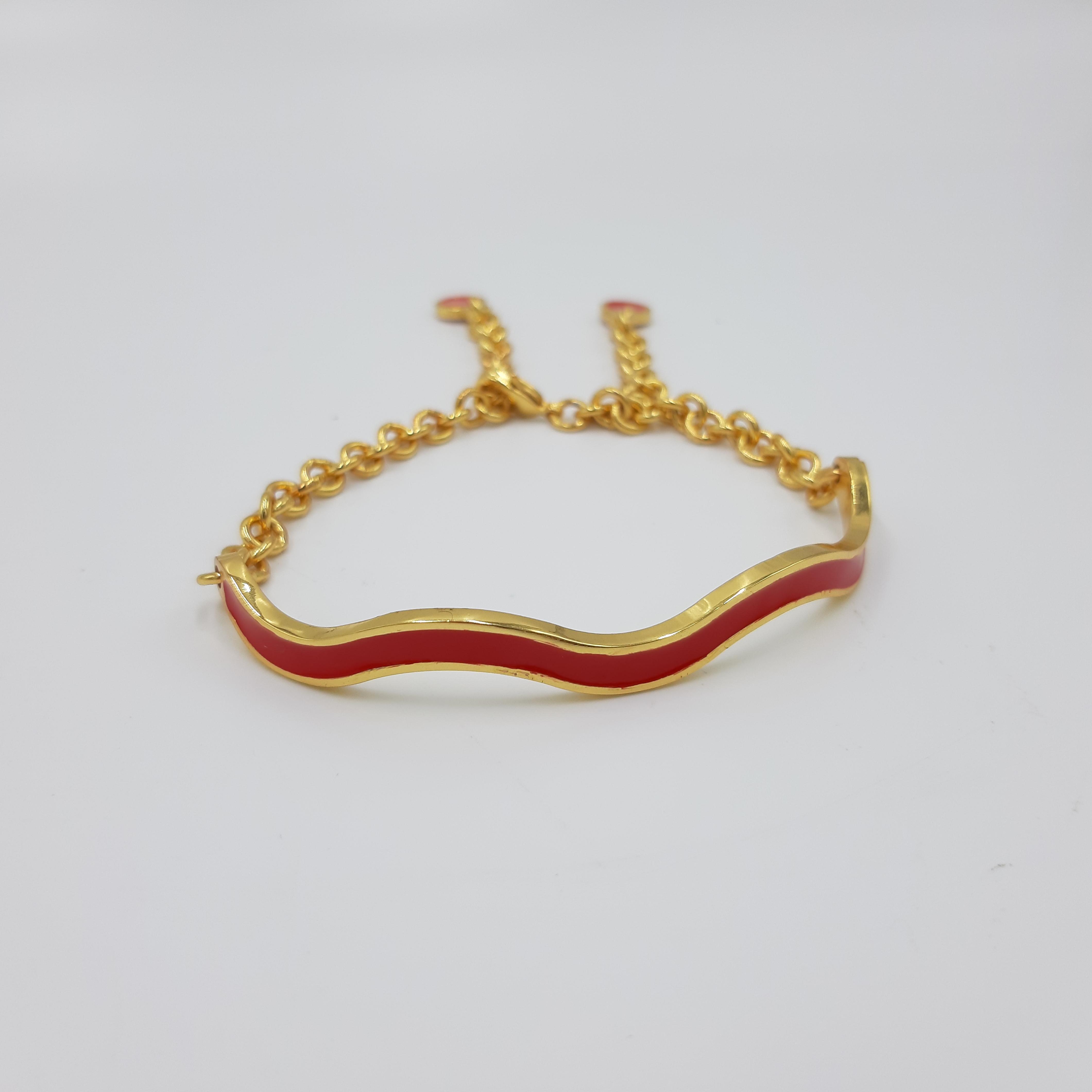 Bracciale rosso regolabile onda Francesca Bianchi Design