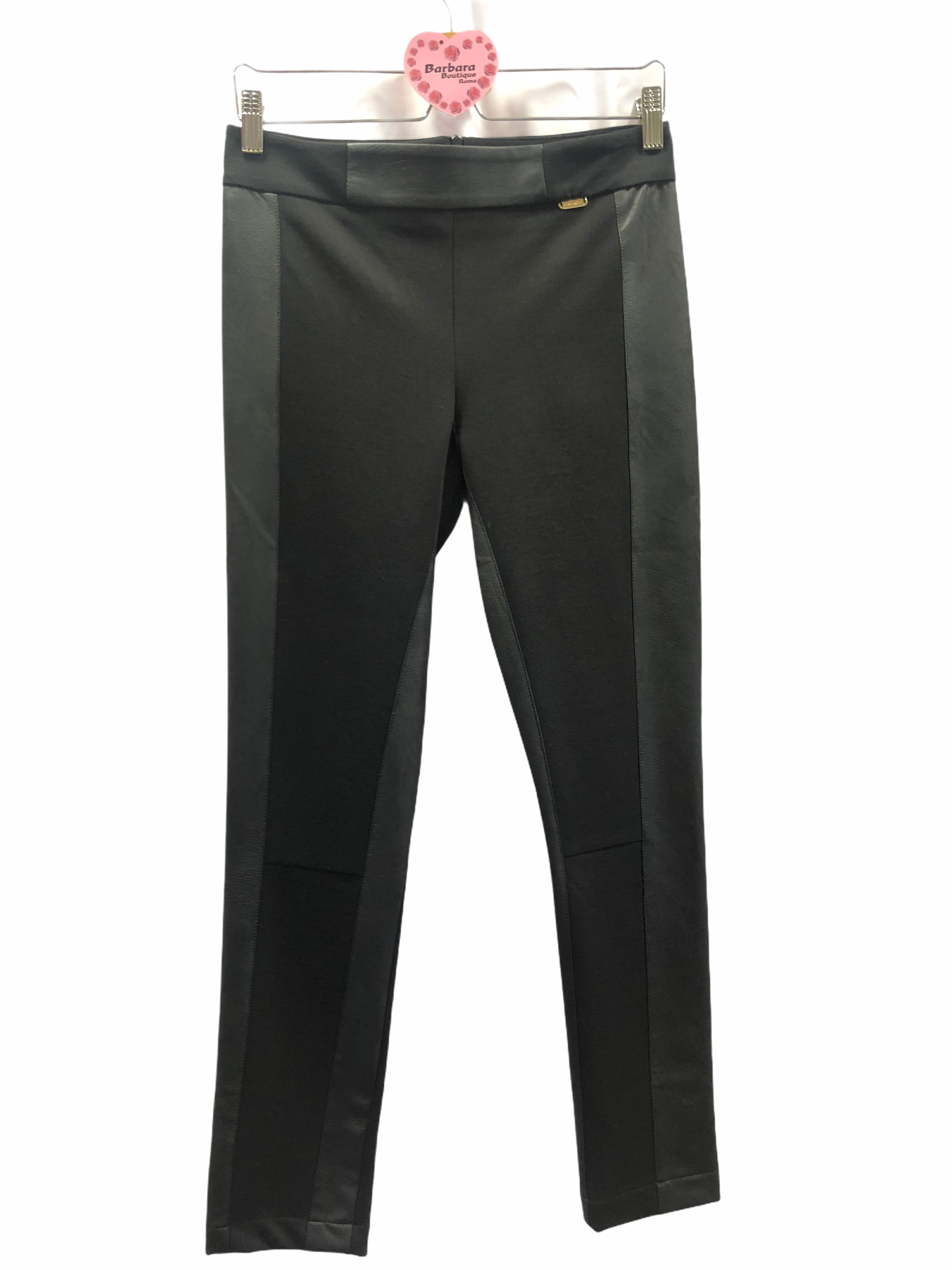 Pantalone profili ecopelle
