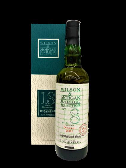 Whisky Bunnahabhain 18 anni Barrel Selection Wilson & Morgan Riserva 2001
