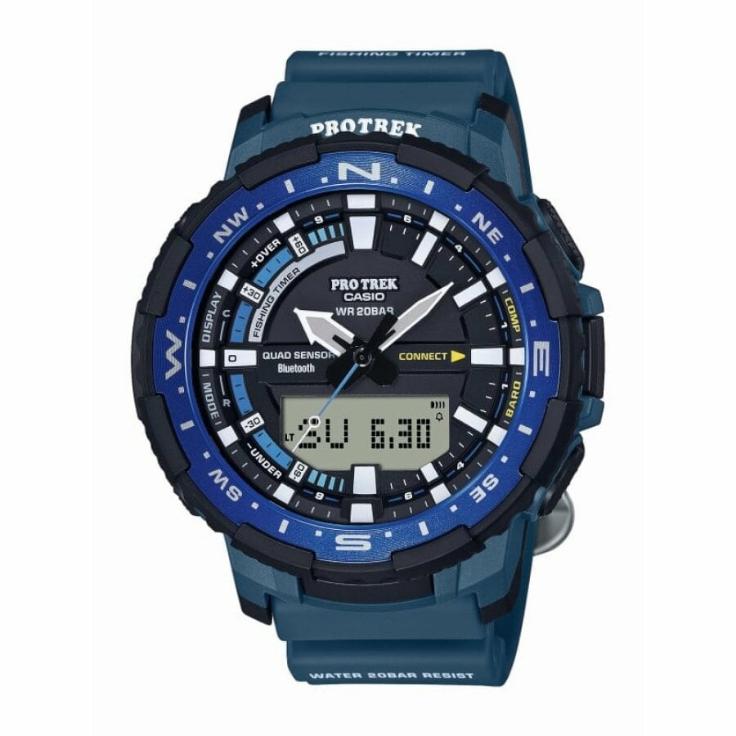 Casio Pro Trek orologio analogico - digitale uomo multifunzione blu e nero