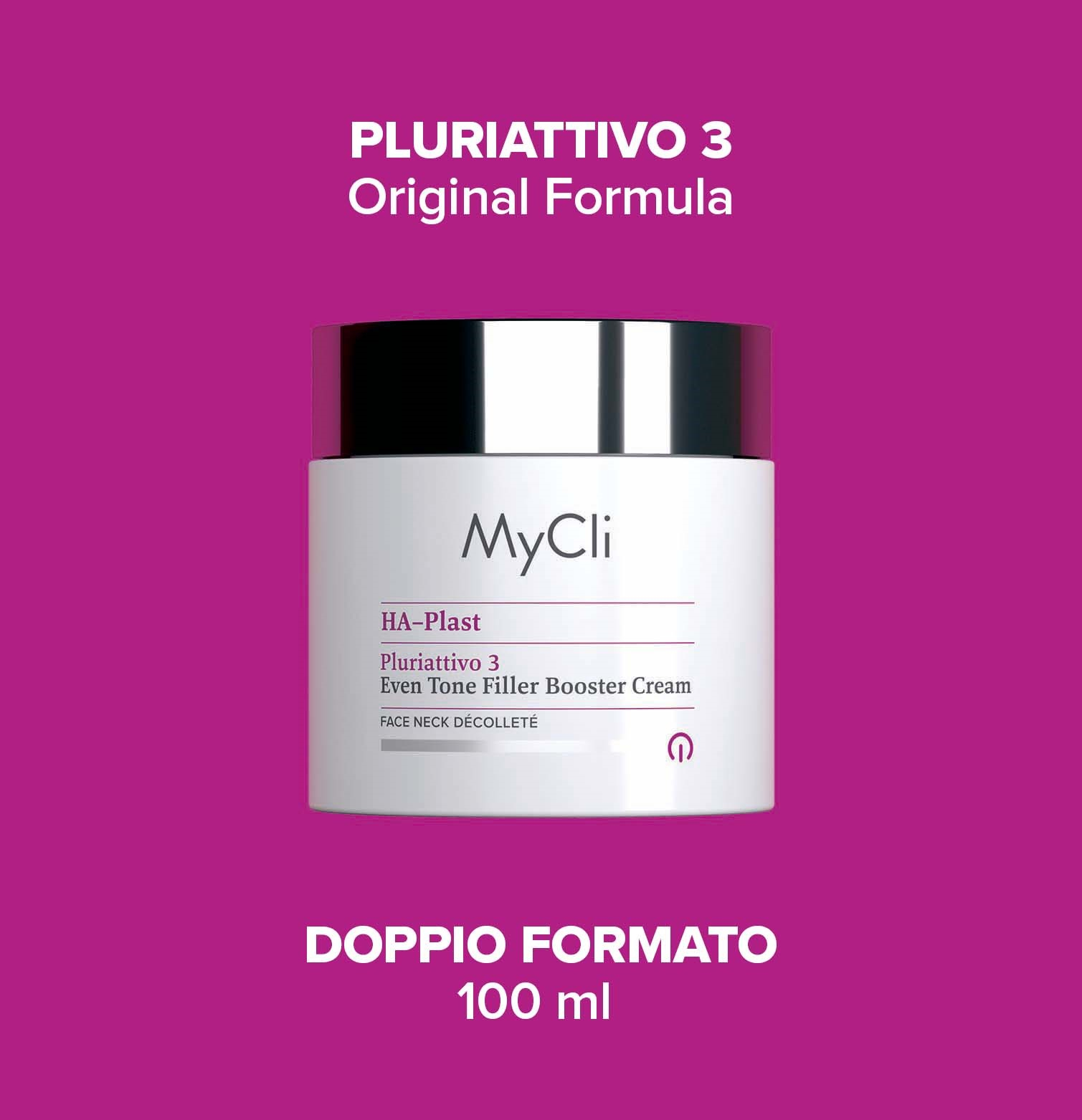 HA-Plast Pluriattivo 3 Crema Filler Booster Uniformante 100 ml - VISO COLLO DÉCOLLETÉ​​​​​​​