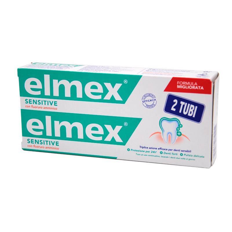 ELMEX SENSITIVE 2 TUBI DA 75 ML CON FLUORURO AMMINICO PER PREVENIRE LA SENSIBILITÀ E LA CARIE RADICOLARE