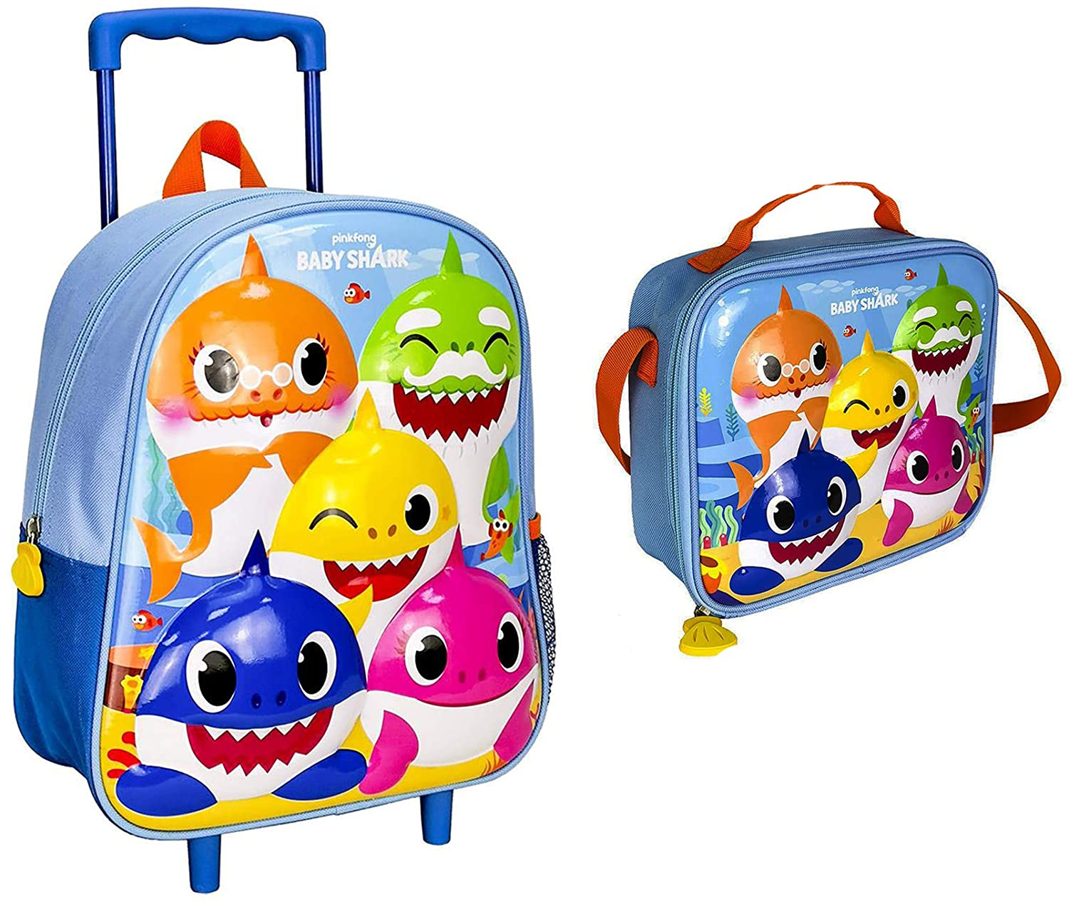 Set Asilo Baby shark Trolley+ borsa termica