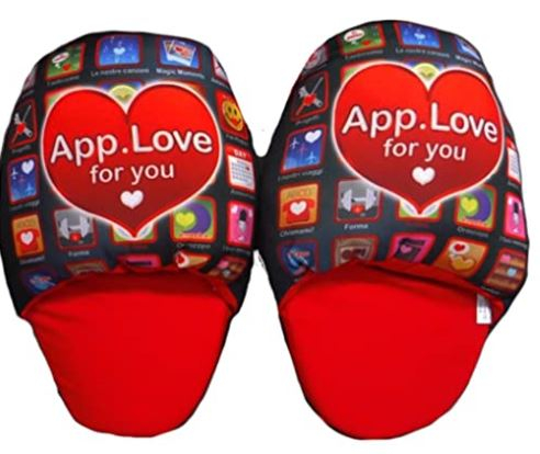 SAN VALENTINO Pantofole App Love for You