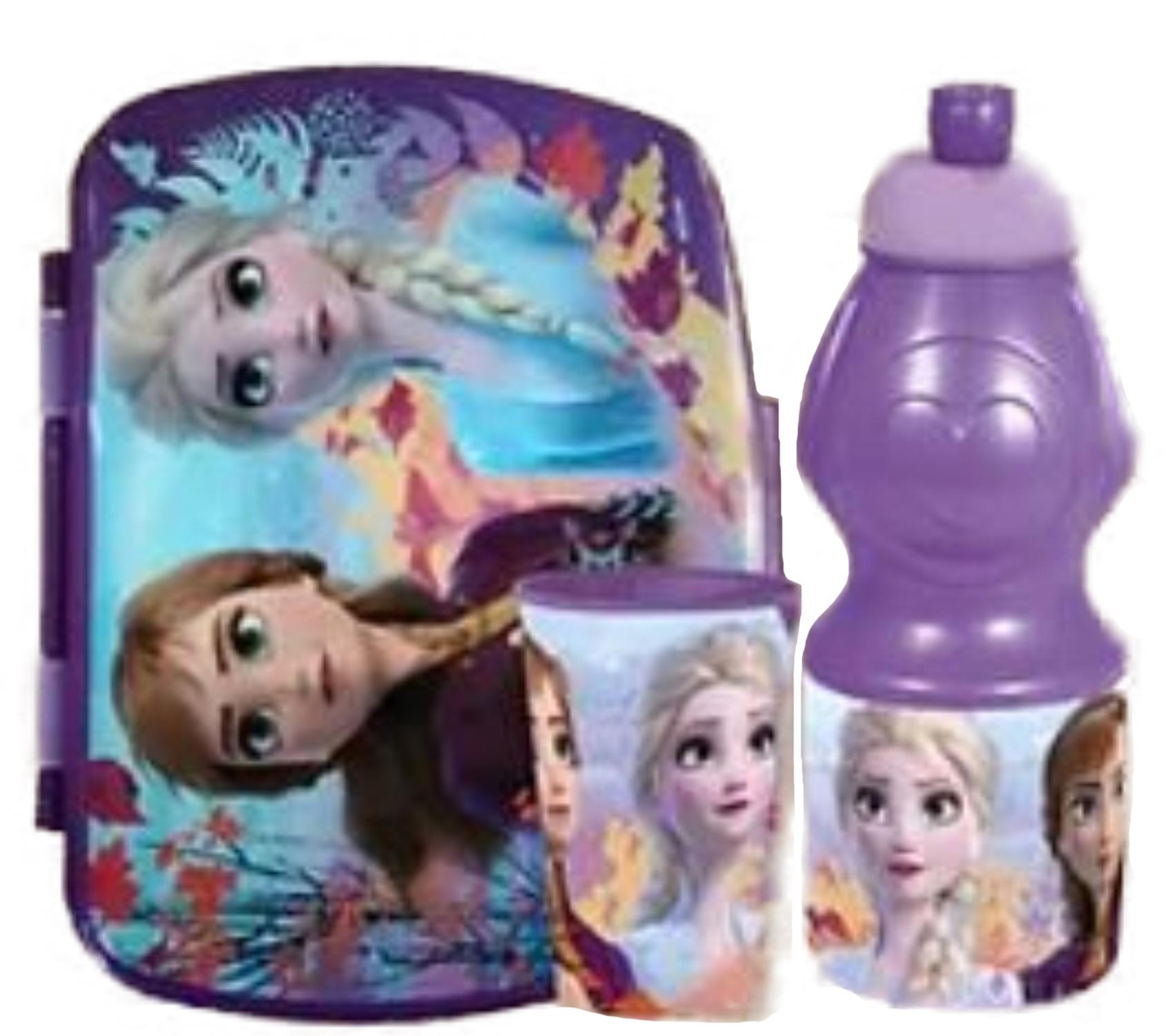 Portamerenda Frozen +borraccia + bicchiere