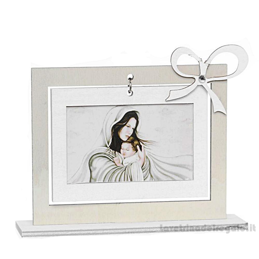Quadretto Maternita' in legno con scatola regalo 15x4x11 cm - Bomboniera