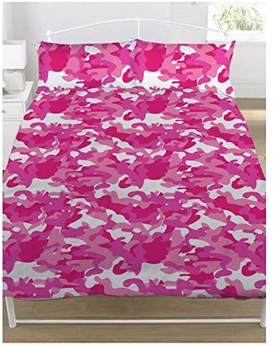 Copripiumino + Federe 1 Piazza e Mezza Camouflage Rosa