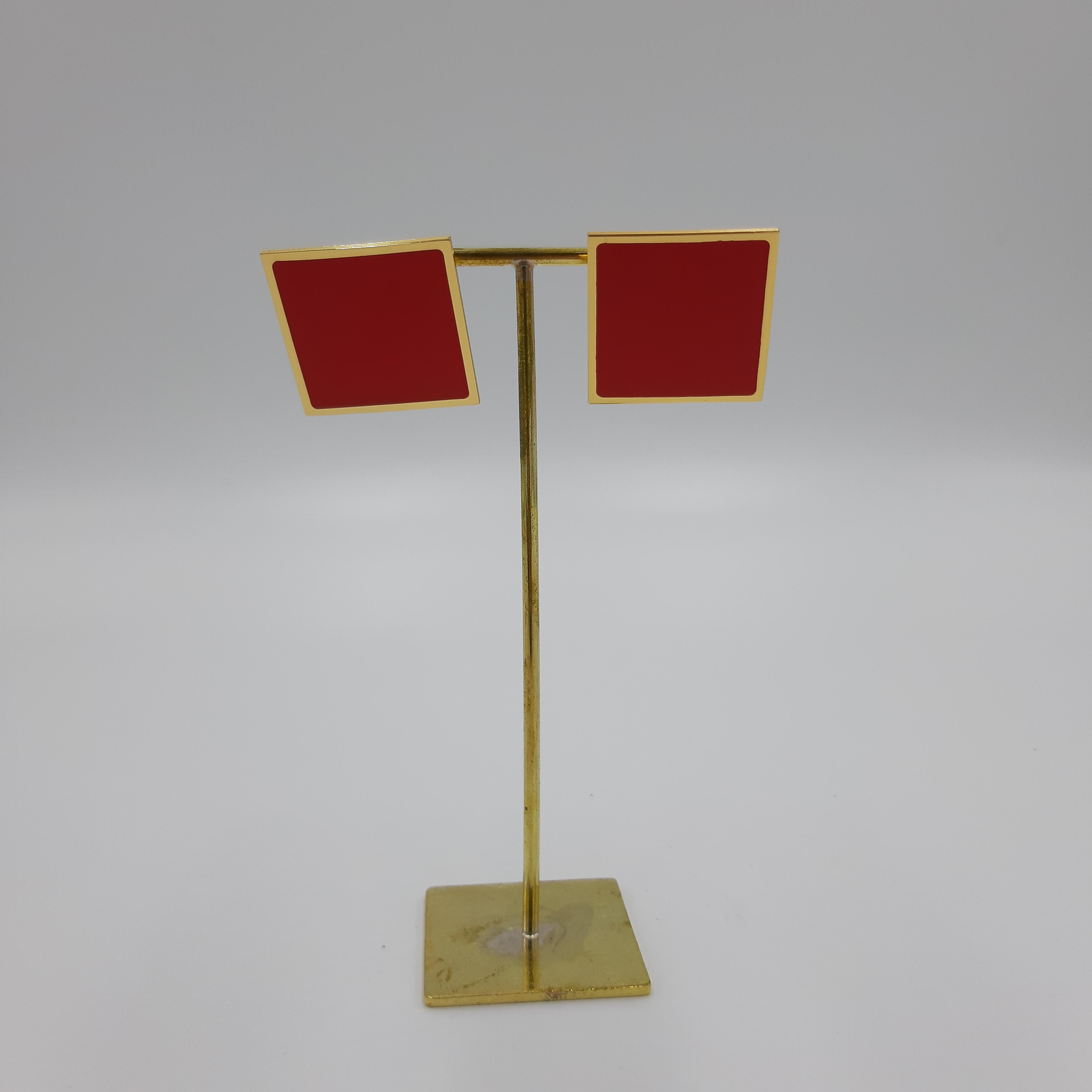 Orecchini quadrati grandi rossi Francesca Bianchi Design