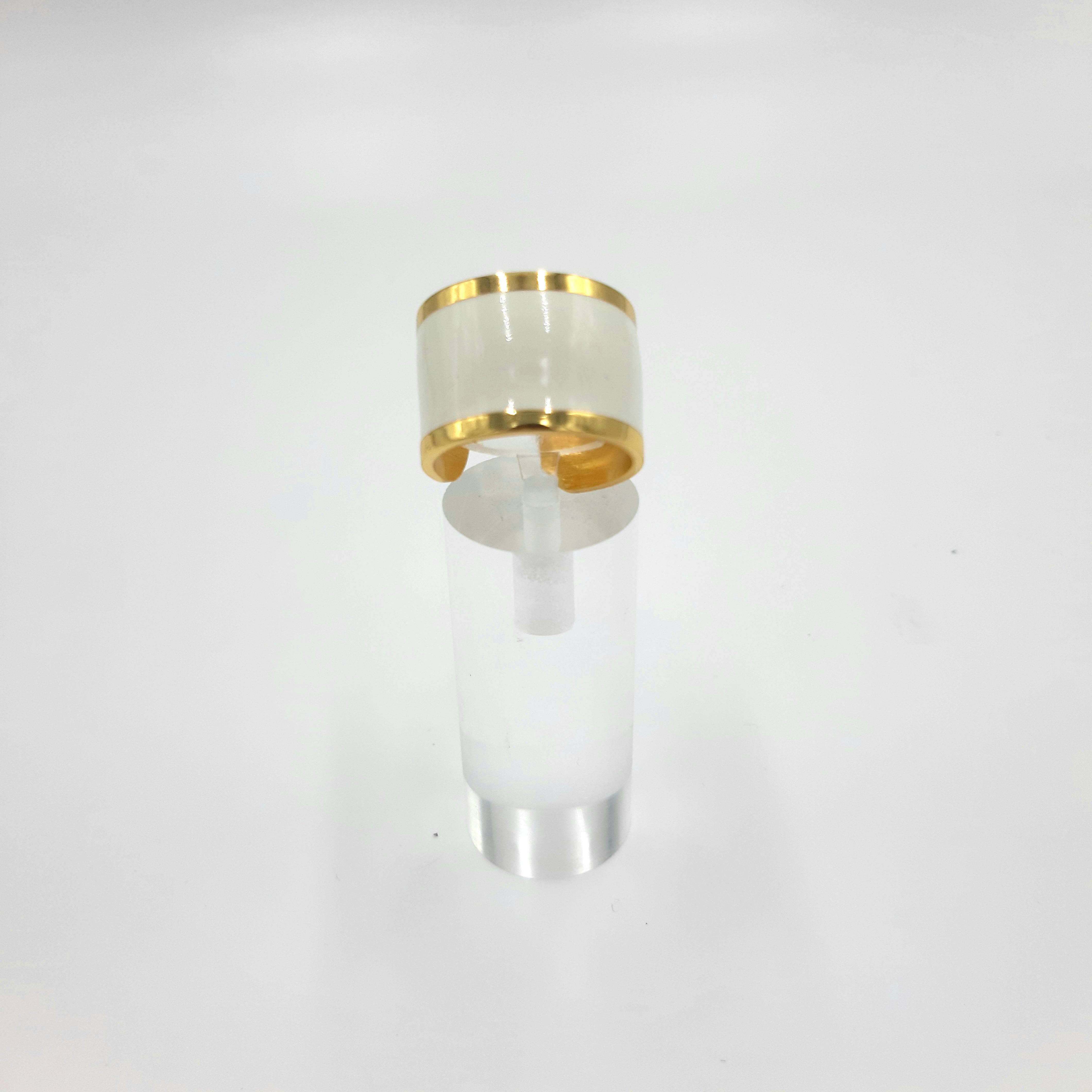 Anello bianco e oro Francesca Bianchi Design