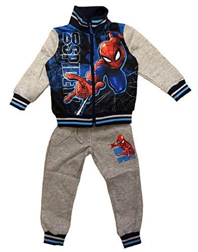 Tuta Spiderman  8 Anni Inverno 2021 (8 Anni, Grigio)
