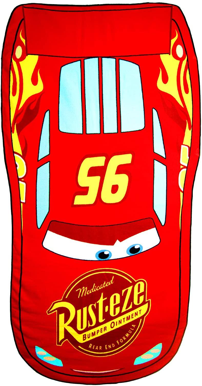 TELO Mare Sagomato Cars Saetta McQueen Disney Pixar Asciugamano Poliestere MICROCOTONE CM. 140X75 - SE4219