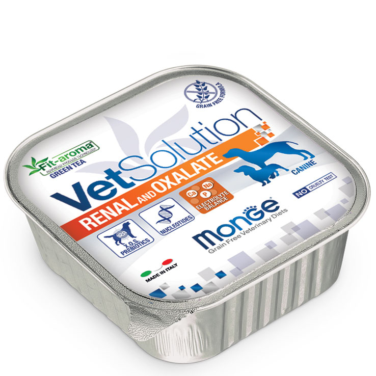 MONGE VET SOLUTION RENAL AND OXALATE CANINE PATE' ADULT 150 GR