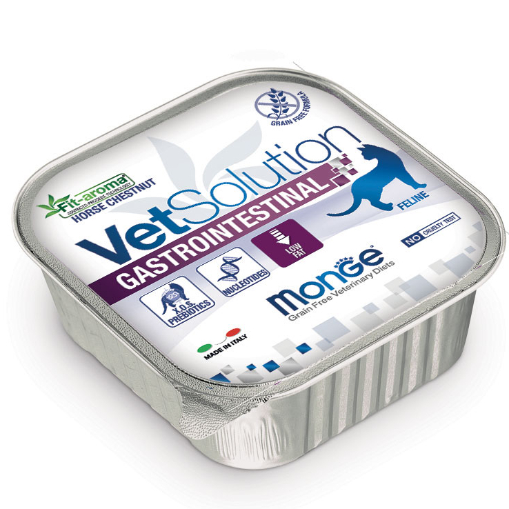 MONGE VET SOLUTION GASTROINTESTINAL FELINE PATE' ADULT 100 GR