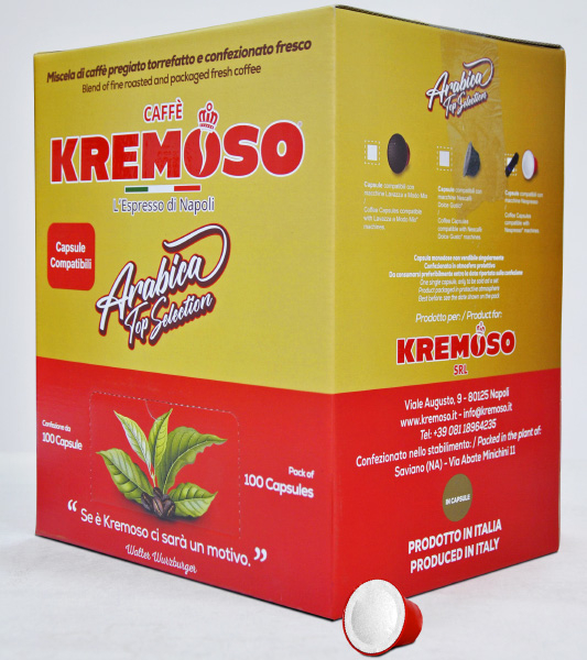 100 CAPSULE NESPRESSO KREMOSO